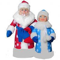 """Мягкая игрушка """"Дед Мороз и Снегурочка"""", в пак. 32*23см(В010/В011)"""