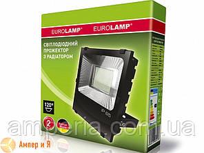Прожектор светодиодный черный с радиатором EUROELECTRIC LED SMD 150W 6500K, фото 2