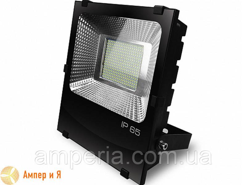 Прожектор светодиодный черный с радиатором EUROELECTRIC LED SMD 150W 6500K