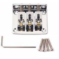 3-струнный бридж хром для электрогитары из сигарных коробок Серебристый
