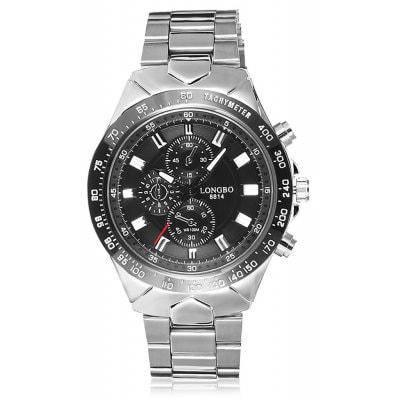LONG BO 8814 водонепроницаемые повседневные кварцевые мужские часы - Чёрный, фото 2