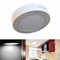 Jiawen светодиодная панель света 6w круглые светодиодные потолочные светильники AC 85-265V Холодный белый свет
