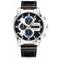 GS19088 GUANQIN мужчины Кожаный ремешок часы Чёрный