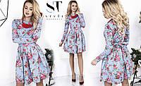 Шикарное платье в цветочный принт