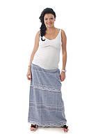 Юбка для беременных ДЕЛОВАЯ МАМА (синий, размер S), фото 1