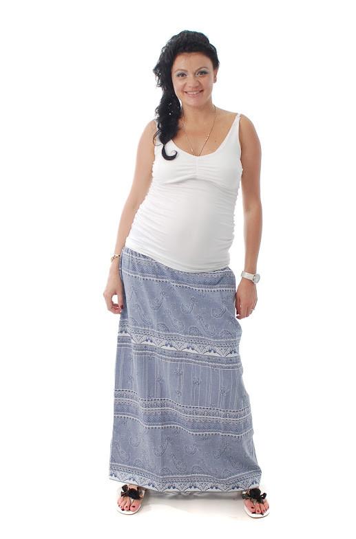 Юбка для беременных ДЕЛОВАЯ МАМА (синий, размер S)