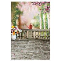 5338 Шелковая ткань фон для фотографии с узором волшебного балкона 20760