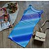 Платье-майка летнее принт голубой полоски