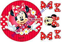 Вафельная картинка Минни и Микки Маус - 6