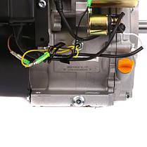 Двигатель бензиновый WEIMA  WM190FE-S NEW (16 л.с., шпонка, вал 25мм, электростарт, бак 6,5л), фото 3