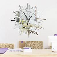 DIY солнце акриловые обои стены стены стикеры настенные наклейки Серебристый