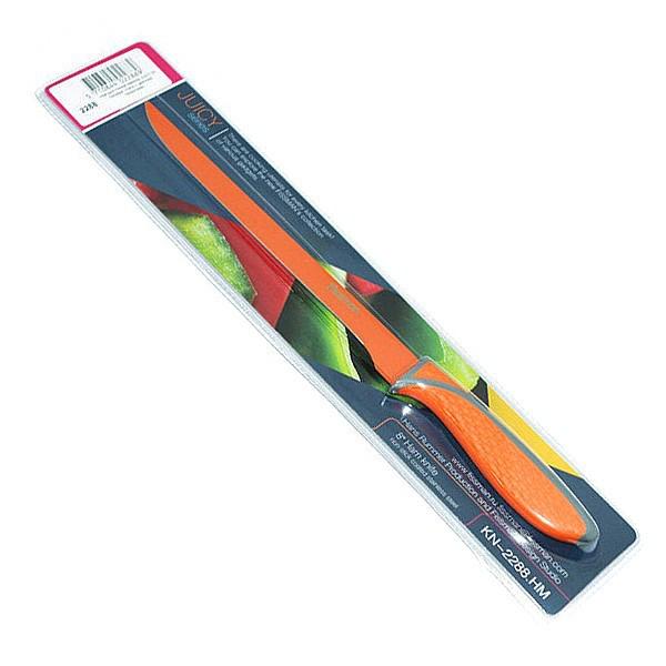 Нож для тонкой нарезки Fissman Juicy 20 см (нержавеющая сталь с разноцветным покрытием)