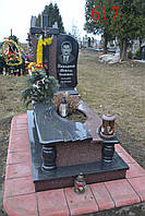 Памятник из гранита токовский и габбро, фото 1