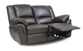 Кожаный двухместный реклайнер Alabama, диван реклайнер, мягкий диван, мебель из кожи