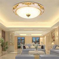Jueja Европейский Стиль круглый светодиодный Потолочный светильник теплый романтический спальня гостиная коридор балкон белый свет 48ВТ 220В