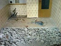 Демонтаж цементно-песчаной стяжки пола в Харькове, фото 1