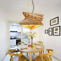 Lanshi творческий дизайн подвеска свет зал деревянный светильник гостиная гостиная 110V-120V