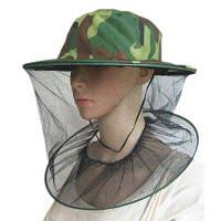 Шляпа с полиэстеровой сеткой для защиты головы от комаров и пчел армейский зеленый камуфляжный