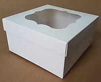 Коробка для капкейков 9 см, 4 шт., С окном, 17см х 17см х 9см