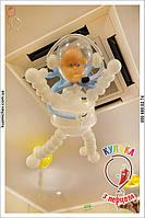 Космонавт из воздушных шаров. Оформление дня рождения воздушными шарами в космической тематике.