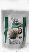 Кокосовые чипсы с укропом, петрушкой, зеленым луком, чесноком Coco Deli. 30гр