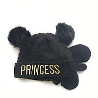 Детская зимняя флисовая шапка и варежки для девочки The Childrens Place (США)