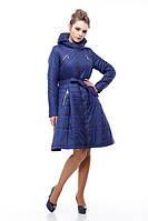 Пальто женское демисезонное цвет василек