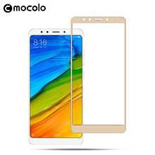 Защитное стекло Mocolo 2.5D 9H на весь экран для Xiaomi Redmi 5 Plus золотистый