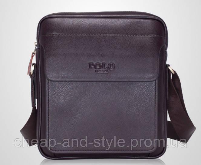 d6a9ea9656ca Мужская стильная кожаная сумка VIDENG POLO New (коричневая 29*24). Сумка-