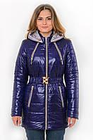 Демисезонная женская водонепроницаемая куртка на синтепоне с капюшоном и поясом 90101, фото 1