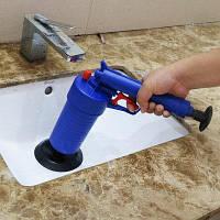 Туалеты высокого давления утечка воздуха бластер чище с 4 Переходниками Синий