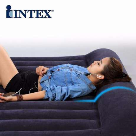 Надувной велюровый матрас Intex 66768 (191х137х22 см.)