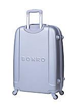 Чемодан Bonro Smile (средний) серебряный, фото 2