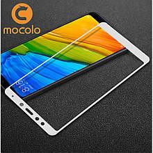 Защитное стекло Mocolo Full сover для Xiaomi Redmi 5 белый