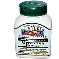 Зеленый чай, 21st Century Health Care, 60 капсул