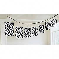 Декоративні паперові ліхтарі-гірлянди з колекції «Зебра» 360см