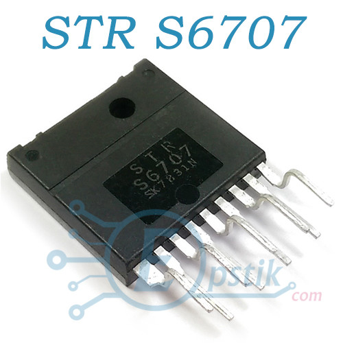STR-S6707, импульсный регулятор напряжения с выходным биполярным ключом, MULTIWATT-9