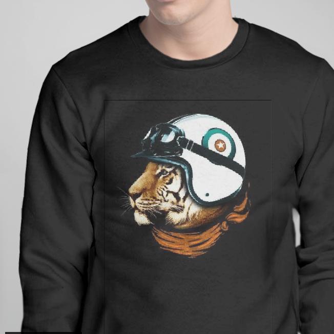 Свитшот з принтом тигр в шлеме