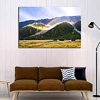 Картина - радуга в горном лесу