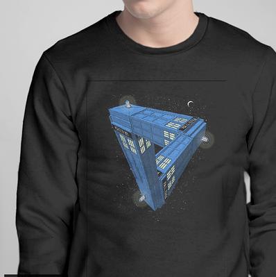 Свитшот с принтом  Космический корабль