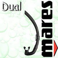 Трубка для водного спорта DUAL (черная)