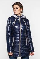 Демисезонная женская водонепроницаемая куртка на синтепоне с капюшоном и поясом 90101/2