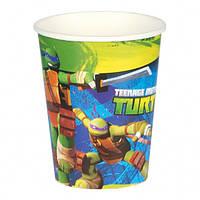 Паперові стакани з колекції «Черепашки ніндзя» 266мл., 8шт