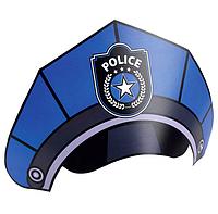 Набір паперових шапок на резинці для зручності з колекції «Поліція» 8шт