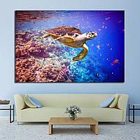 Картина - Черепаха в океане