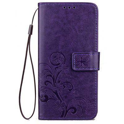 МК счастливый Клевер кобура лист карточки удостоверения личности PU кожаный чехол для Samsung С9 Фиолетовый, фото 2