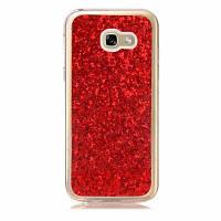 МК Покрынный порошок кожа все завернутый случай мобильного телефона TPU для Samsung A520 Красный
