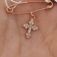 Золотая булавка с крестиком