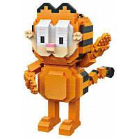 LOZ комплект строительных блоков ABS, стиль-кот, который стоит, из мультфильма Цветной