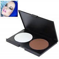 Очаровательный прямоугольник макияж тени пудра для женщин (2 цвета) 29578